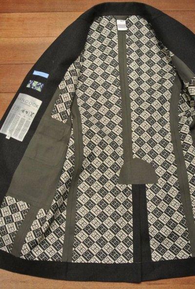 画像3: 【EXCELLENT USED】HANCOCK (ハンコック) ウールゴム引き テーラードカラーコート(CharcoalGray/40)国内正規品 スコットランド製