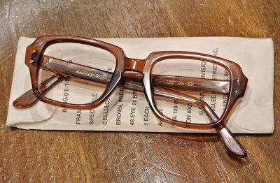 画像1: 80年代製 デッドストック USS MILITARY EYEGLASEES GI GLASSES アメリカ軍 眼鏡 メガネ(48-20)Birth Control Glasses
