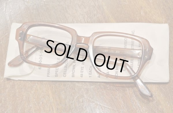 画像1: 80年代製 デッドストック USS MILITARY EYEGLASEES GI GLASSES アメリカ軍 眼鏡 メガネ(48-20)Birth Control Glasses  (1)
