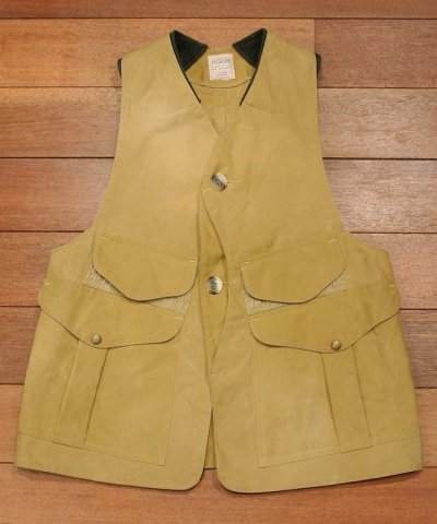 画像1: 【USED】Filson フィルソン Tin Cloth バードハンティングベスト (Tan)サイズ表記なし 日本MLくらい 中古