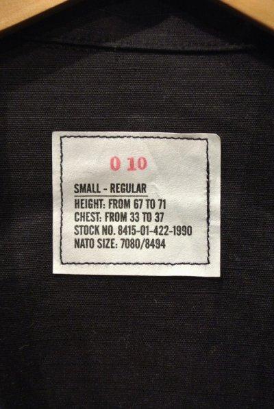 画像2: 97年 デッドストック U.S ARMY 米軍 BDU BLACK357 リップストップジャケット SMALL-REGULAR ブラック 黒