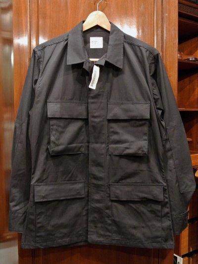 画像1: 97年 デッドストック U.S ARMY 米軍 BDU BLACK357 リップストップジャケット SMALL-REGULAR ブラック 黒