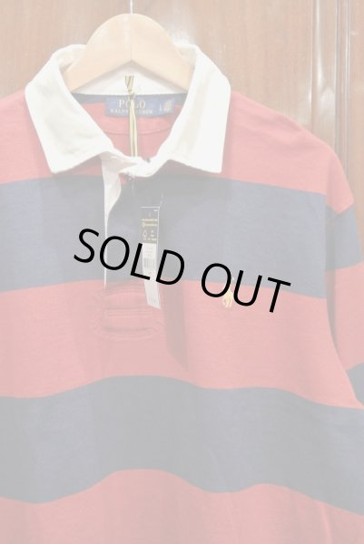 画像1: ポロラルフローレン ボーダー ラグビーシャツ ラグビージャージ  (L) 新品 並行輸入  (1)