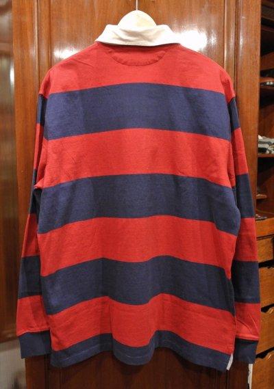 画像3: ポロラルフローレン ボーダー ラグビーシャツ ラグビージャージ  (L) 新品 並行輸入