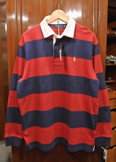 画像2: ポロラルフローレン ボーダー ラグビーシャツ ラグビージャージ  (L) 新品 並行輸入