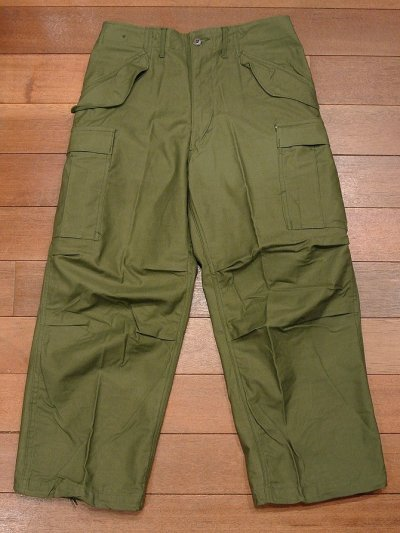 画像1: 1967年 デッドストック U.S ARMY M-65 Field Trousers【SMALL-SHORT】初期型 サテン フィールドパンツ アルミジップ