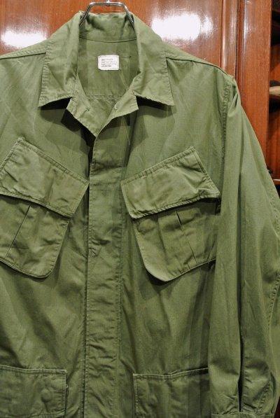 画像2: 60s デッドストック U.S ARMY ポプリン ジャングルファティーグジャケット 【SMALL-REGULAR】ノンリップ 3rd