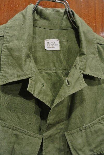 画像3: 60s デッドストック U.S ARMY ポプリン ジャングルファティーグジャケット 【SMALL-REGULAR】ノンリップ 3rd