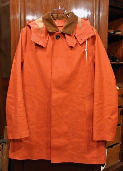 画像1: (EXCELLENT USED) MACKINTOSH マッキントッシュ ゴム引き ステンカラーコート(ORANGE/40)中古 スコットランド製