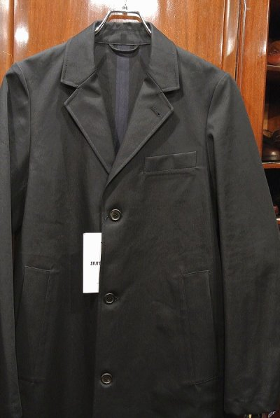画像2: STUTTERHEIM (ストゥッテルハイム) KARLAPLAN ゴム引き コート(Black/S)新品 並行輸入
