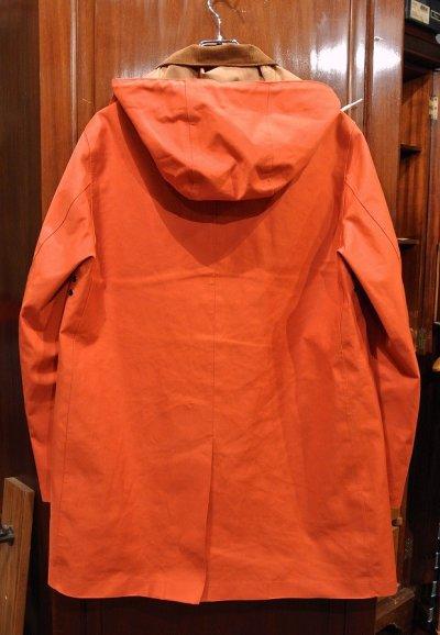 画像3: (EXCELLENT USED) MACKINTOSH マッキントッシュ ゴム引き ステンカラーコート(ORANGE/40)中古 スコットランド製