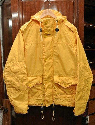 画像1: (USED)ポロラルフローレン コットン×ナイロン フードジャケット  パーカー【Yellow/M】中古