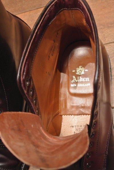 画像3: (EXCELLENT USED)ALDEN シェルコードバンブーツ #4060 純正シューツリー付き【Burgundy/9-E】Color8