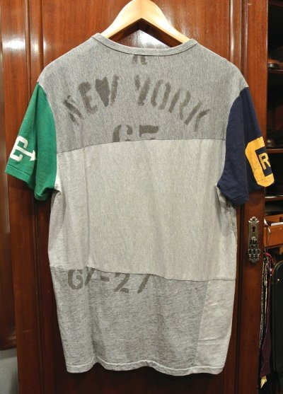 画像3: 【クリックポスト185円も可】ポロラルフローレン リメイク風 パッチワーク Tシャツ (M) 新品