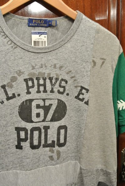 画像2: 【クリックポスト185円も可】ポロラルフローレン リメイク風 パッチワーク Tシャツ (M) 新品