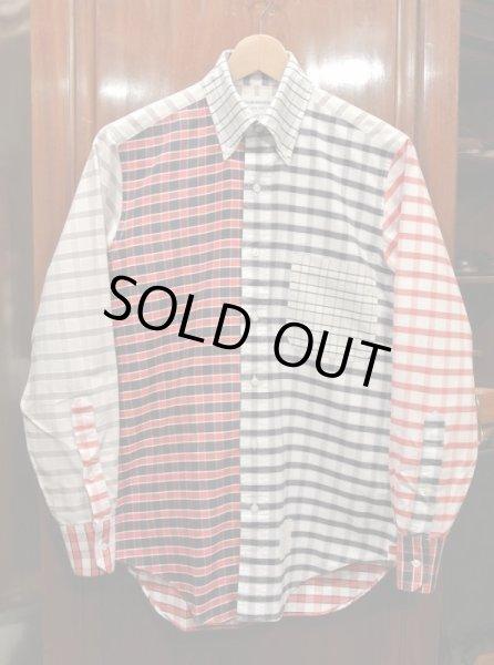 画像1: (USED) Thom Browne トムブラウン オックスフォード クレイジーパターン B.Dシャツ(0) 中古 (1)