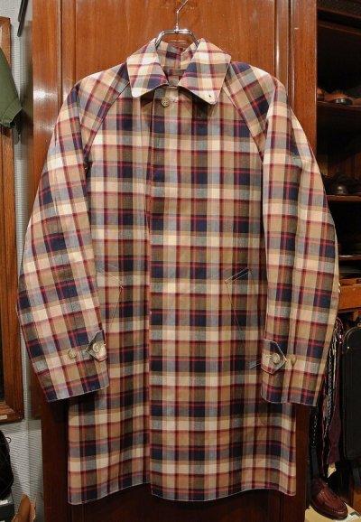 画像1: (EXCELLENT USED) Mackintosh 104 マッキントッシュ ゴム引き ステンカラーコート(36) コットン+リネン イングランド製 中古