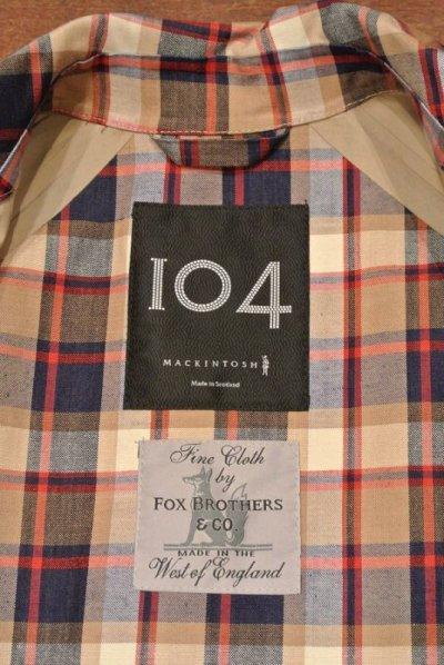 画像2: (EXCELLENT USED) Mackintosh 104 マッキントッシュ ゴム引き ステンカラーコート(36) コットン+リネン イングランド製 中古