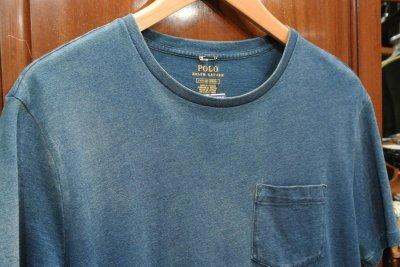 画像2: 【クリックポスト185円も可】ポロラルフローレン インディゴ ポケットTシャツ (Faded Indigo , S) 新品 並行輸入