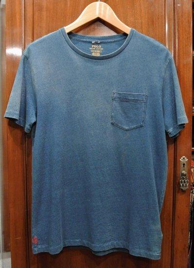 画像1: 【クリックポスト185円も可】ポロラルフローレン インディゴ ポケットTシャツ (Faded Indigo , S) 新品 並行輸入