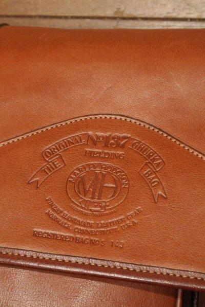 画像3: 【EXCELLENT USED】90s OLD GHURKA No.137 FIELDING オールド グルカ  オールレザーショルダーバッグ 【Chestnut Leather】90s 中古
