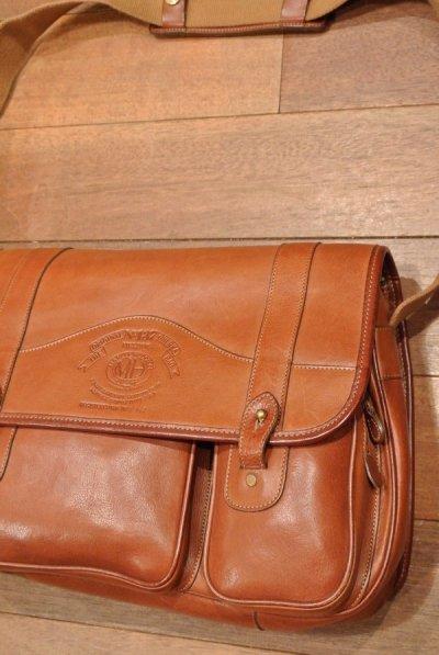 画像2: 【EXCELLENT USED】90s OLD GHURKA No.137 FIELDING オールド グルカ  オールレザーショルダーバッグ 【Chestnut Leather】90s 中古