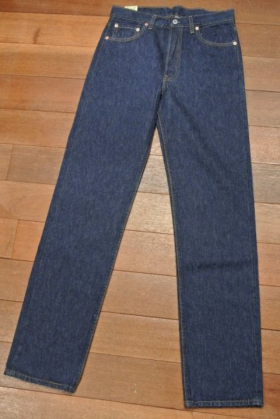 画像2: 1990年製 デッドストック Levi's リーバイス501ワンウォッシュデニム アメリカ製 【 W30 L34 】フラッシャーつき