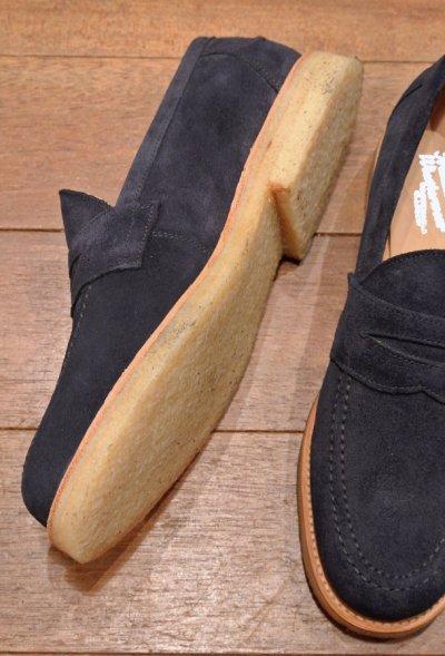 画像3: Traditional Weatherwear トラディショナル ウェザーウェア Sanders イングランド製 スウェード ローファー (Navy/UK8,US9) クレープソール 箱つき 新品