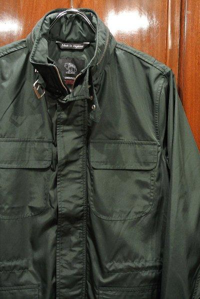 画像2: FOX UMBRELLAS フォックスアンブレラ 傘の生地でつくったミリタリージャケット(Green/36) イングランド製 新品