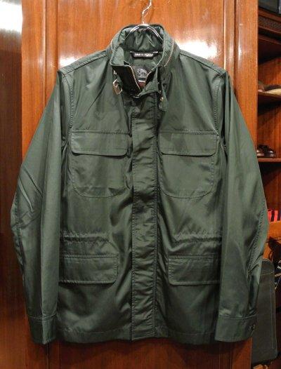 画像1: FOX UMBRELLAS フォックスアンブレラ 傘の生地でつくったミリタリージャケット(Green/36) イングランド製 新品