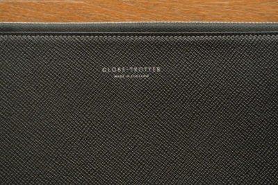 画像2: GLOBE TROTTER グローブトロッター JETレザー ドキュメントケース クラッチバック (Black ブラック) 新品 イングランド製 定価74520