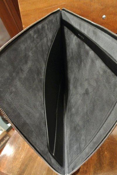 画像3: GLOBE TROTTER グローブトロッター JETレザー ドキュメントケース クラッチバック (Black ブラック) 新品 イングランド製 定価74520