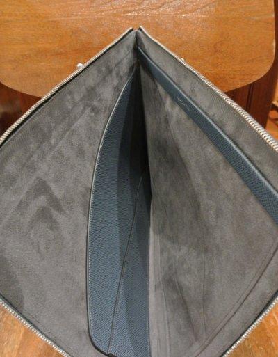 画像3: GLOBE TROTTER グローブトロッター JETレザー ドキュメントケース クラッチバック (Blue ブルー) 新品 イングランド製 定価74520