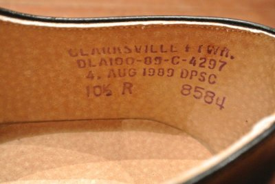 画像3: 89年製 デッドストック U.S NAVYサービスシューズ 【10.5-R】CLARKSVILLE FTWR.製
