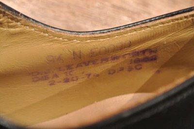 画像2: 74年製 デッドストック U.S NAVYサービスシューズ レザーソール【9.5-N】D.J LEAVENWORTH 社製