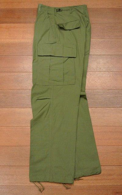 画像2: 1969年 デッドストック U.S ARMY JUMGLE FATIGUE PANTS OG-107 カーゴパンツ【SMALL-REGULAR】リップストップ Deadstock