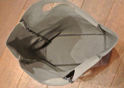 画像3: TUSTING タスティング Kimpton M レザー 手提げトートバッグ イングランド製 (Gray) タグ付き 未使用 定価14300
