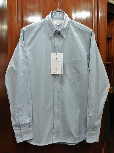 画像1: プライベートホワイト PRIVATE WHITE V.C コットン B.Dシャツ(Blue/2)新品 正規輸入品 定価25920
