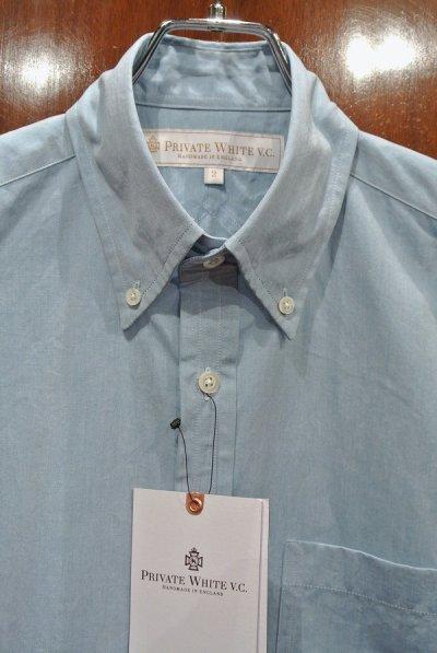 画像2: プライベートホワイト PRIVATE WHITE V.C コットン B.Dシャツ(Blue/2)新品 正規輸入品 定価25920
