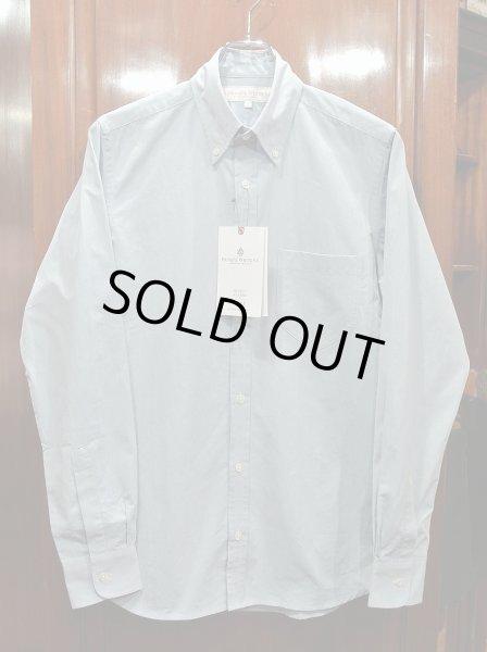 画像1: プライベートホワイト PRIVATE WHITE V.C コットン B.Dシャツ(Blue/2)新品 正規輸入品 定価25920 (1)