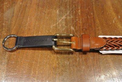 画像3: ARNOLD WILLS(アーノルド ウィルス)レザーメッシュベルト イングランド製  25mm (BROWN/30) 定価12960 新品