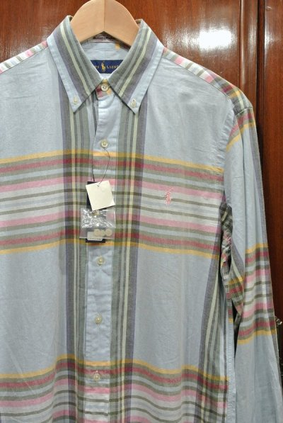 画像2: ポロラルフローレン インディアンマドラス B.Dシャツ (S) 新品 並行輸入