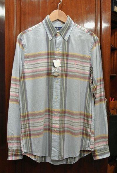 画像1: ポロラルフローレン インディアンマドラス B.Dシャツ (S) 新品 並行輸入