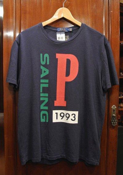 画像1: 【クリックポスト188円も可】ポロラルフローレン SAILING 1993 Tシャツ(NAVY/M) 新品 並行輸入