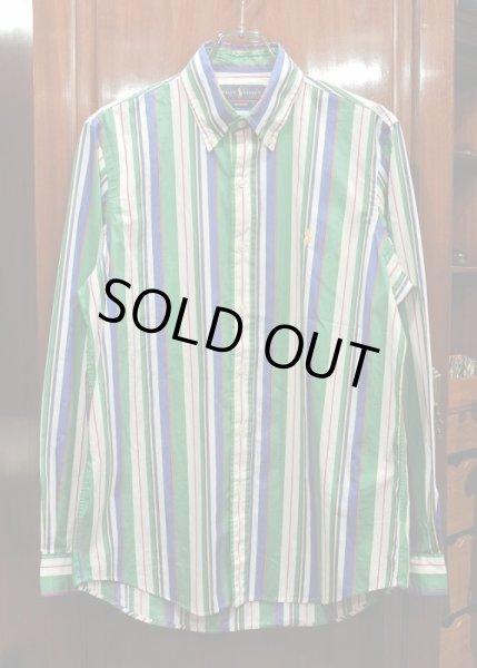 画像1: ポロラルフローレン マルチカラー ストラップ B.Dシャツ(CLASSIC FIT/M) 新品 並行輸入 (1)
