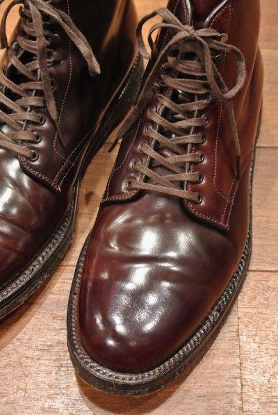 画像2: (USED)ALDEN シェルコードバン レースアップブーツ #45178H【Burgundy/8.5-D】LeatherSoul別注 Color#8