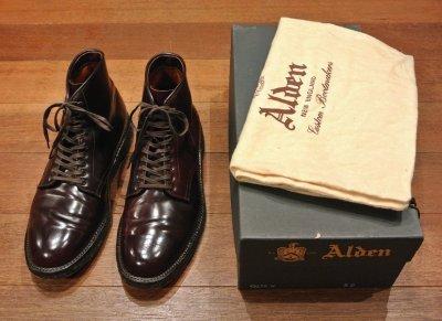 画像3: (USED)ALDEN シェルコードバン レースアップブーツ #45178H【Burgundy/8.5-D】LeatherSoul別注 Color#8