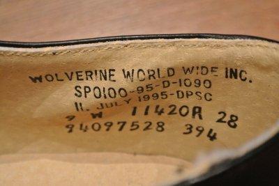 画像3: デッドストック 1995年製 U.S NAVYサービスシューズ 【9-W】WOLVERINE WORLD WIDE INC.製
