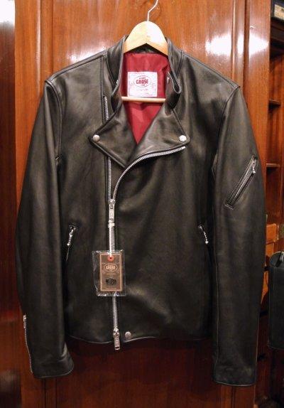 画像2: JAMES GROSE RICARDE JACKET 羊革 ライダースジャケット イングランド製 (Black/40) タグ付き 新品 正規輸入品