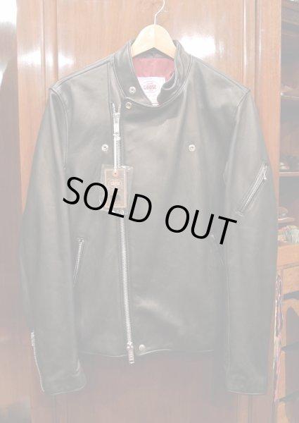 画像1: JAMES GROSE RICARDE JACKET 羊革 ライダースジャケット イングランド製 (Black/40) タグ付き 新品 正規輸入品 (1)